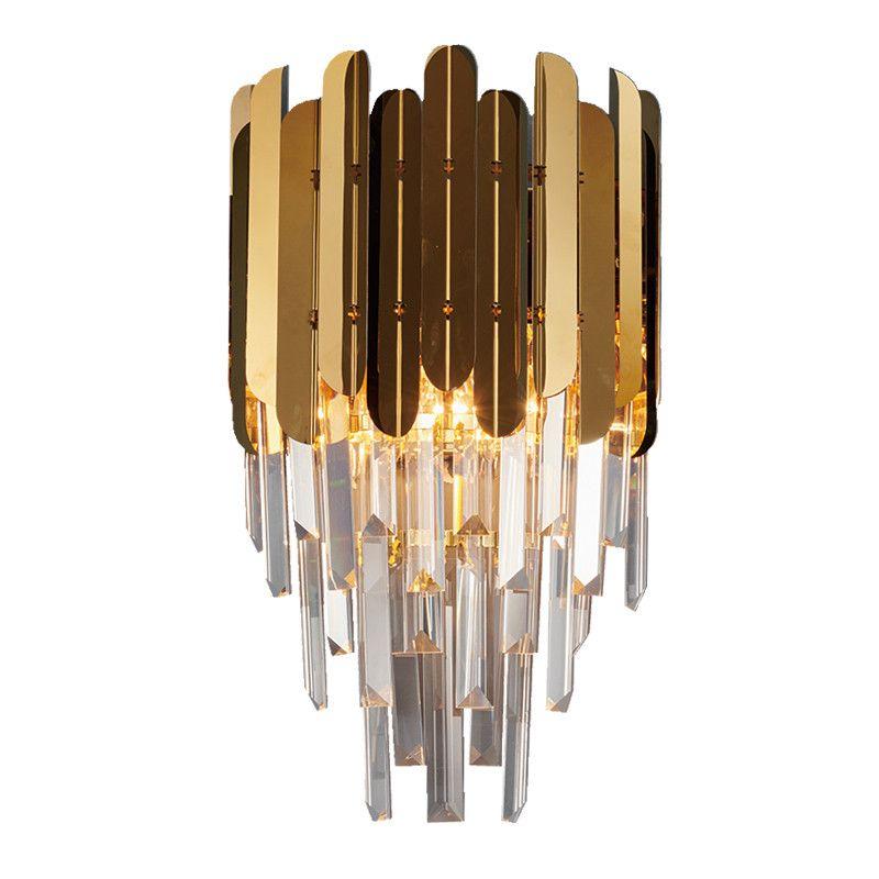 LED moderna del riparo della parete della lampada al muro di lusso oro Infissi Comodino Soggiorno Lampade da parete SME