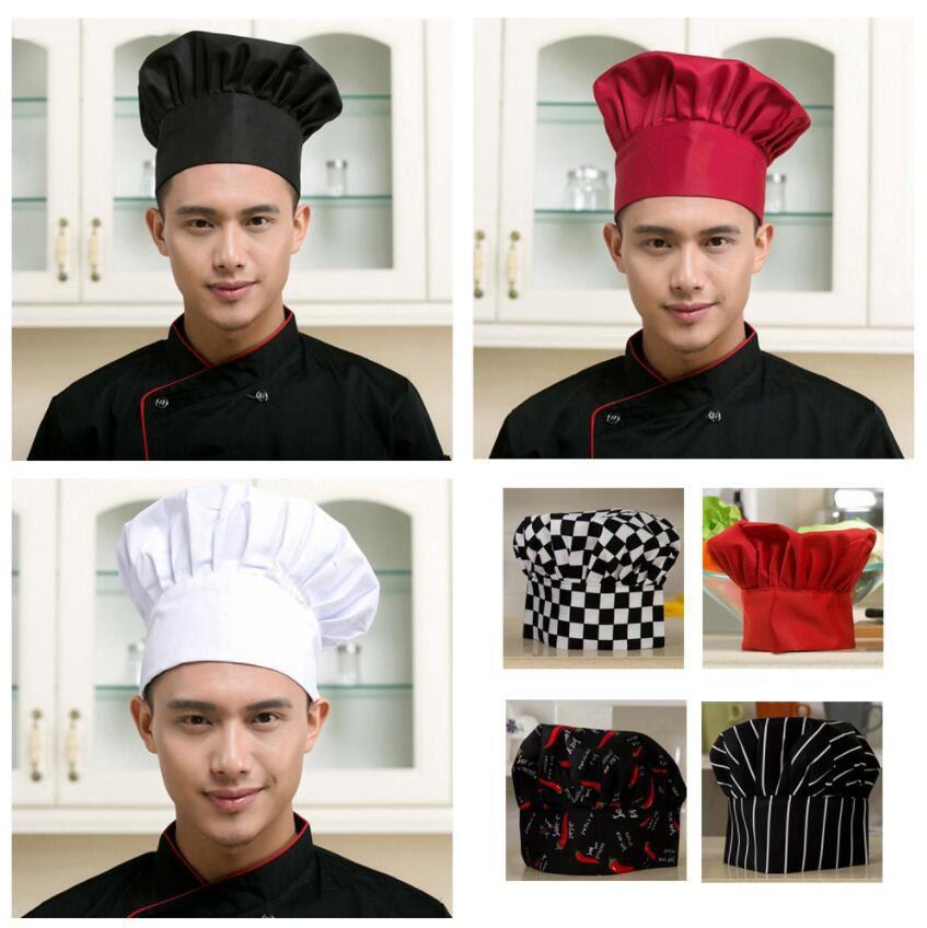 La cocina del cocinero sombrero unisex Hombres Mujeres chef de camarero uniforme Diseño del casquillo bordado Cocinar panadería Parrilla Restaurante del cocinero Sombrero Trabajo