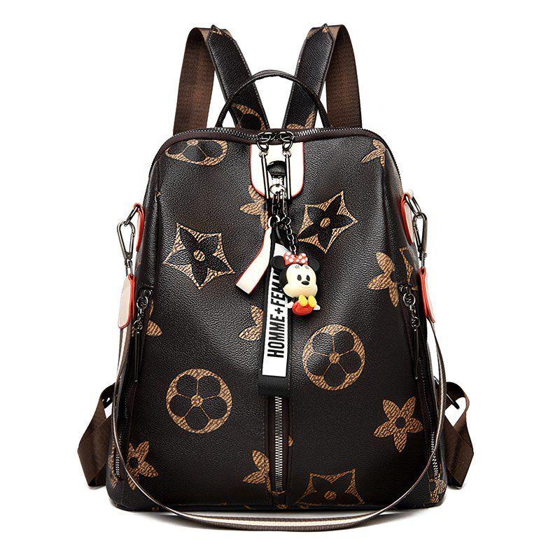 Pembe Sugao tasarımcı sırt çantası pu deri kaliteli seyahat omuz çantası lüks sırt çantası 2020 yeni moda sırt çantaları BHP çiçek baskılı