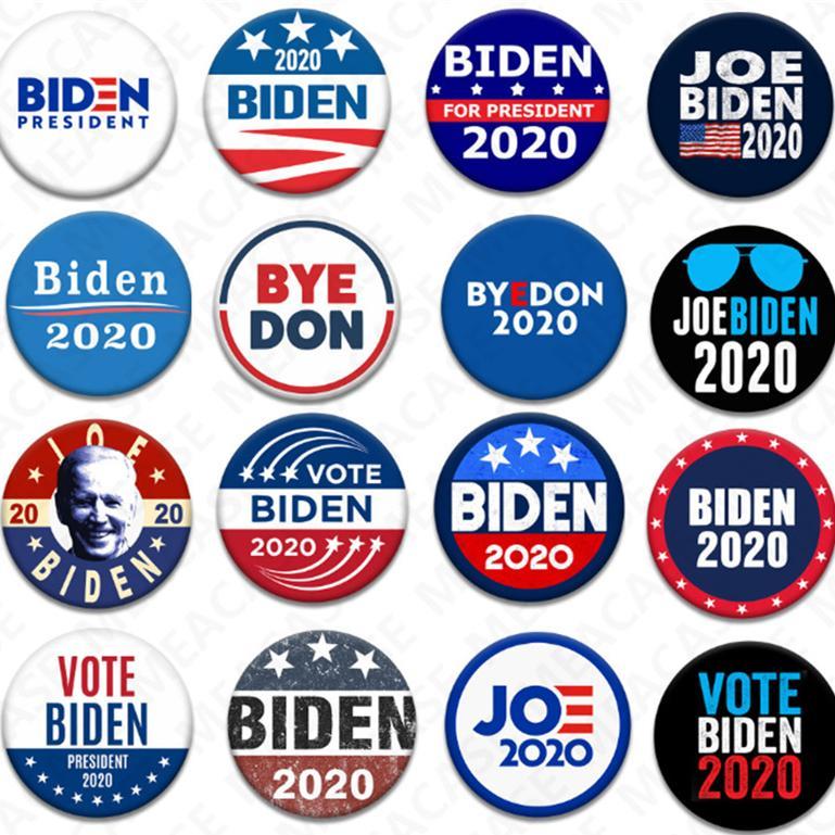 18 Stiller Joe Biden Broş 2020 ABD Başkanlık Seçim Biden Rozet Teneke Seçim Rozetler Biden Oy Broş Pin Parti D7204