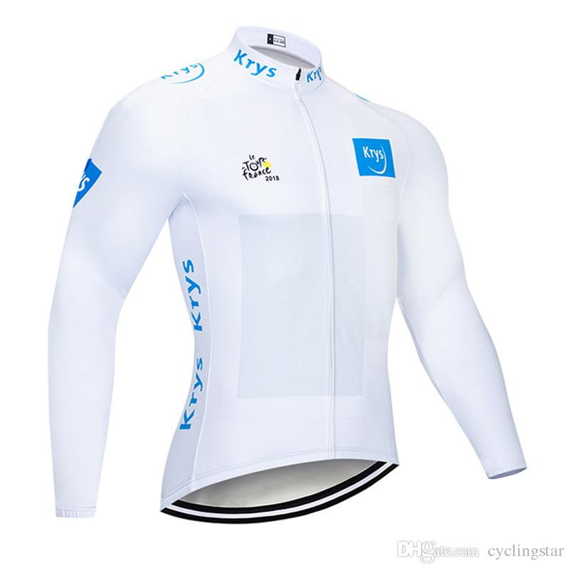 Men cycling jersey Bike long sleeve Shirt Tour de france 2018 spring autumn quick dry cycling Outfits road bicycle clothing sportswear Y0708