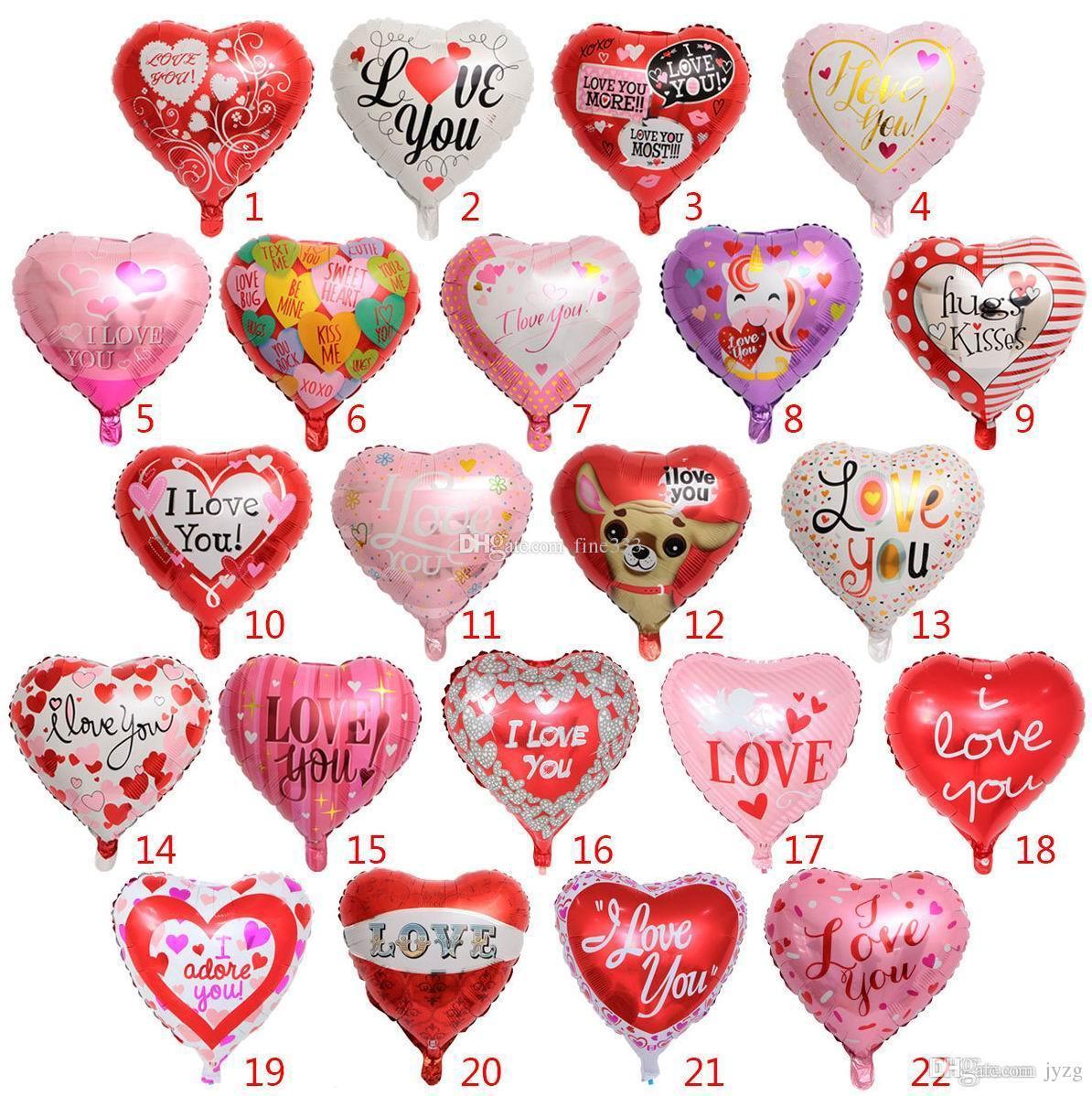 Партия шаров надувные свадьба вечеринку украшения 18 дюймов формы сердца гелий фольгированные шары воздушные шары партии