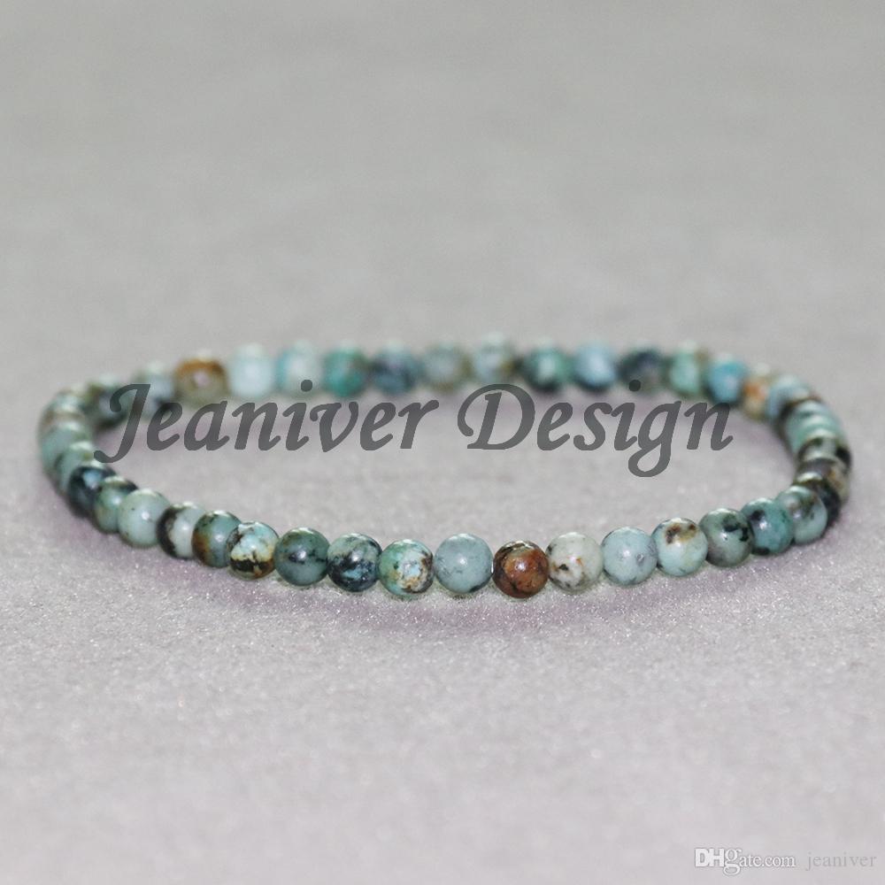 Jeaniver 2019 Bracelet Africaine Tur Turquoise 4 mm Mini Pierre Bracelet Yoga Bracelet Meilleures Amoureux Cadeau Bracelet