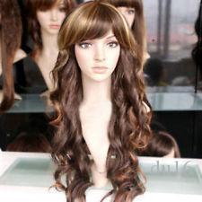 Esther Blanchett neige mélange brun foncé longs pattes perruque pas de dentelle avant fait perruques haute qualité synthétique reine des fibres brésilienne