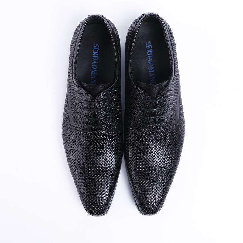 Мужские кожаные ботинки на шнуровке Бизнес Формальные носить кожаную обувь Мужская обувь Zapatos De Hombre партии молодежи Свадебная одежда