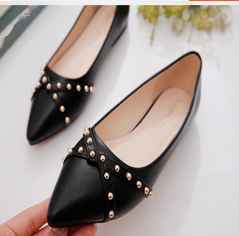 2020 весной и осенью с обувью Нового стилем моды плоского дна заостренного конца женщинами в @ MQWBH674