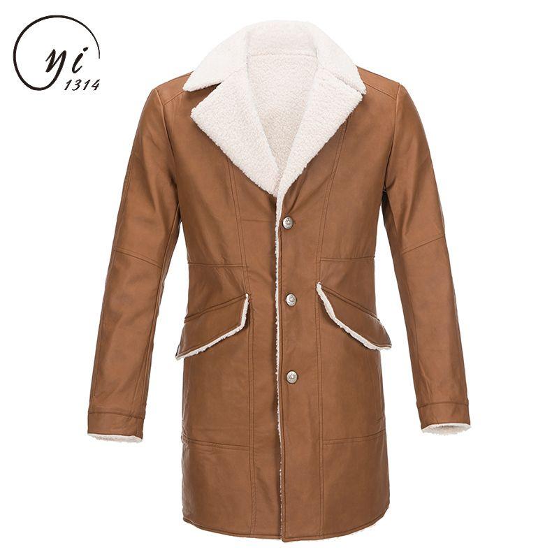 Trench Coat Men High Quality Fashion Design Men's Jacket Warm Winter Trench Long Outwear Button Overcoat Coats Men Abrigo Hombre