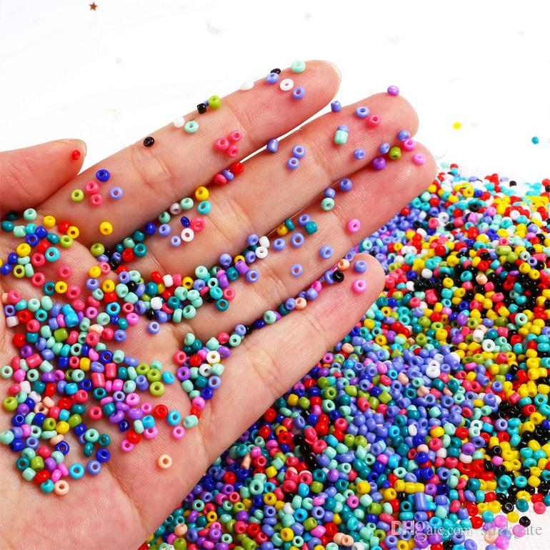 Small Seed Beads for DIY Bracelet Necklaces Crafting Jewelry Making Repair 24 Color Loose Beads Spacer Beads with Plastic Storage Box N61Y