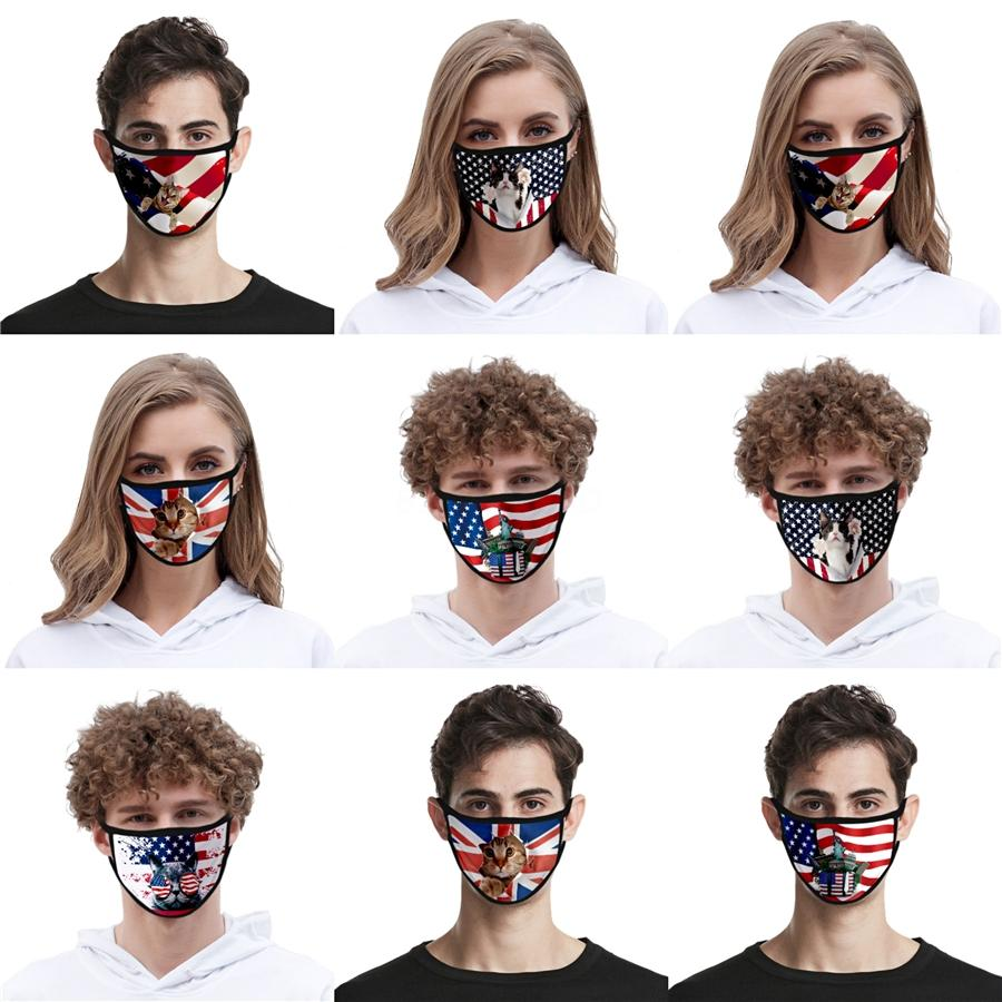 Em armazém Donald Trump Designer Luxo reutilizável lavável Pano de algodão Moda Rosto Mouth máscara mulher dos EUA homens unisex 17 estilos Fast Ship # AQ612