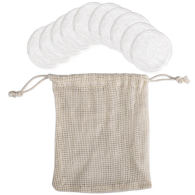 Removedor de maquillaje de ratón reutilizables almohadillas de algodón Maquillaje facial removedor de fibra de bambú de la piel facial del cuidado de la piel de limpieza almohadillas de lactancia