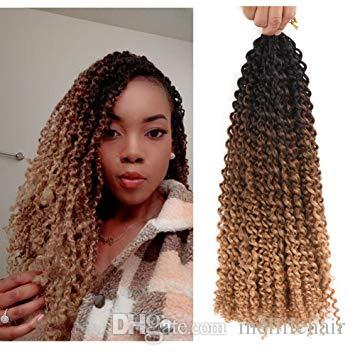 18inch Water Wave Passion Twist Crochet Braids Braiding Hair Weave 22Roots Synthetic Passion Twist Crochet Braid Hair Extensions 18Inch