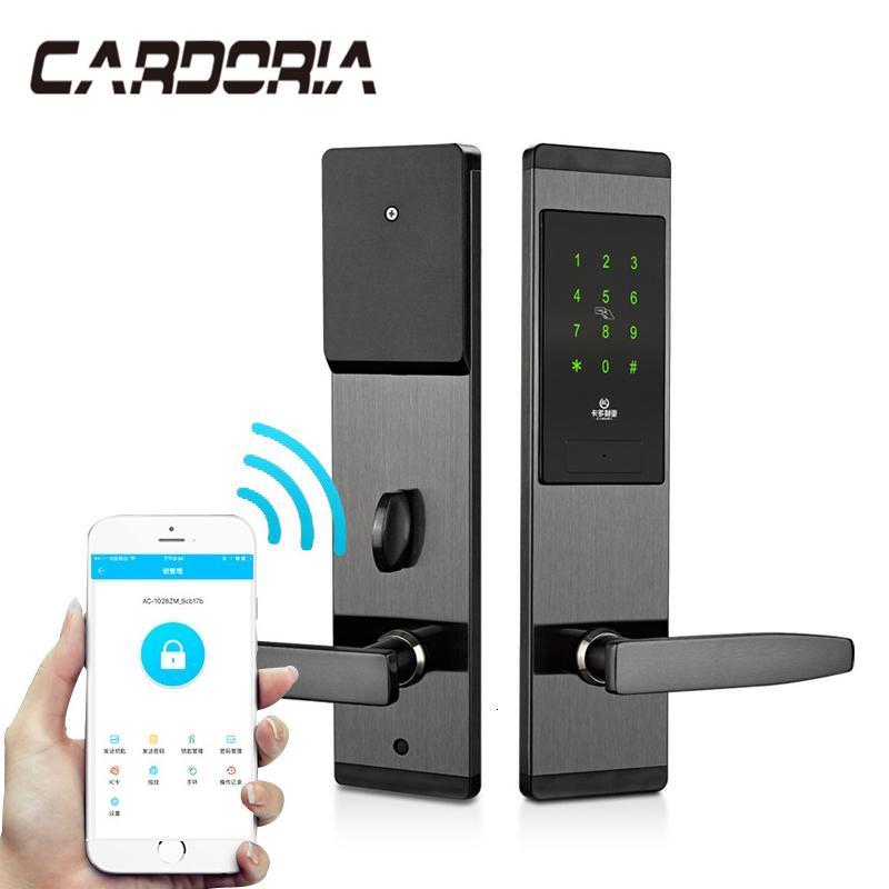 شاشة الأمن بدون مفتاح الالكترونية قفل الباب الذكية الرقمية APP WIFI لمس لوحة المفاتيح كلمة السر قفل الباب T191029
