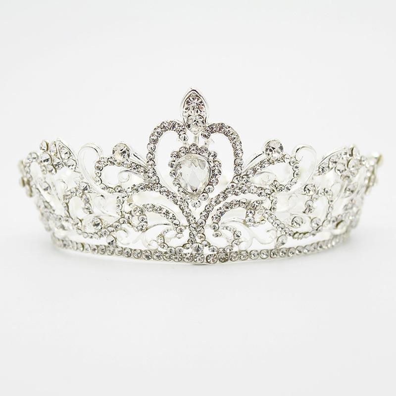 Braut Hochzeit Tiara Crown Hochzeit Alloy Diamant-Inlay-Haar-Zusätze DTT88