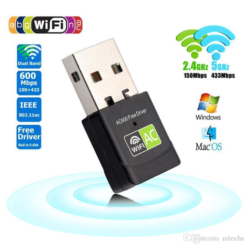 USB Wifi USB Ethernet Adapter wifi 600mb/s 5Ghz Lan USB Wi-Fi Adapter PC Antenna wireless internet access AC receiver wireless network ca