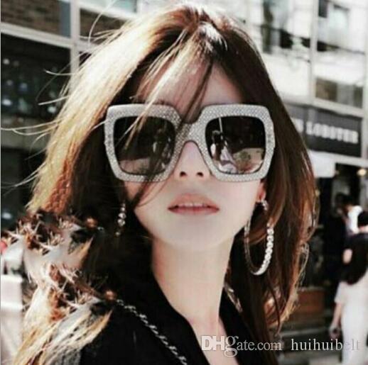 Nuova tendenza europea e americana grande telaio imitazione diamante occhiali da sole 5038 quadrati moda sunglasses sunglasses sunglass da sunglass da sunglass