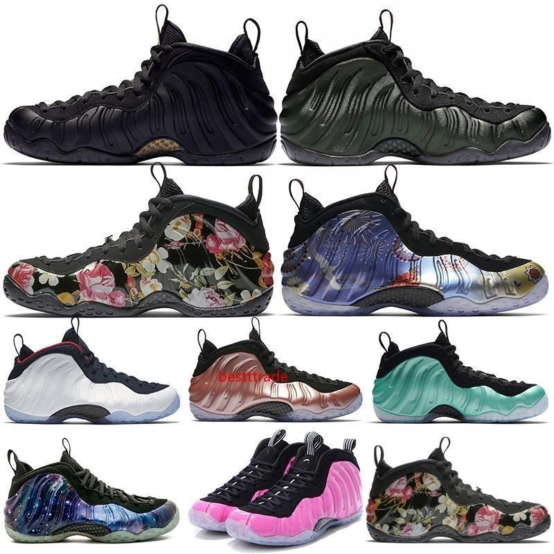 2019 zapatos Penny Hardaway de baloncesto del Mens CNY floral Fleece Habanero Rojo Sequoia berenjena rosa Rust espuma Deportes zapatillas de deporte 7-13 envío