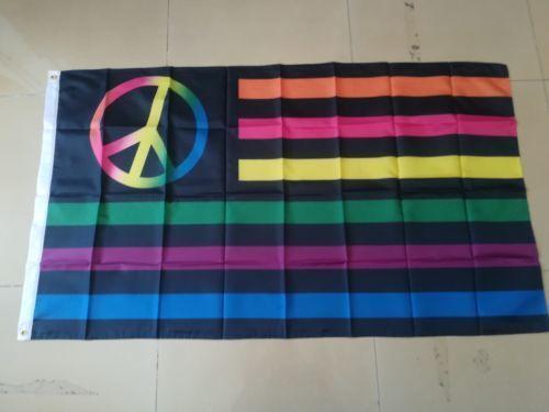 Neon Peace Symbol Usa Custom Flag 3ft*5ft (150cm*90cm) Flag Banner decoration flying home & garden outdoor gifts