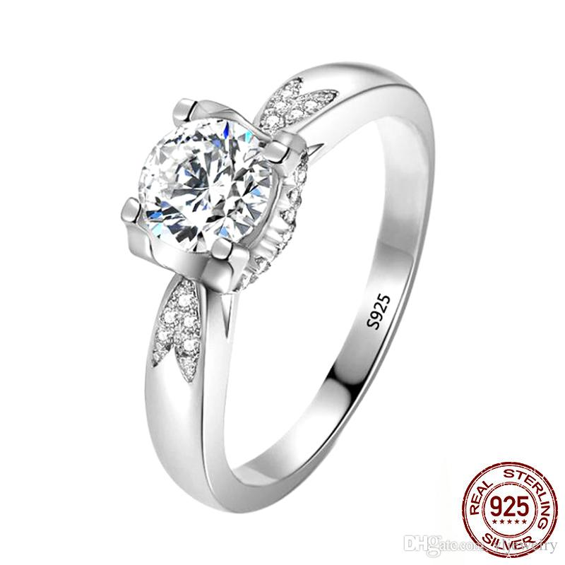 LMNZB 100% Natural 925 Solid Silver Rings For Women Wedding Fine Jewelry CZ Diamond Ring Luxury Engagement Ring Gift XR388