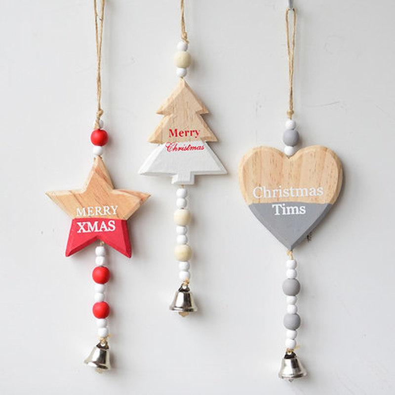 Christmas Wooden Pendants Creative Wood Craft Kids Gift DIY Xmas Tree Ornament Christmas Party Decorations home Decorations