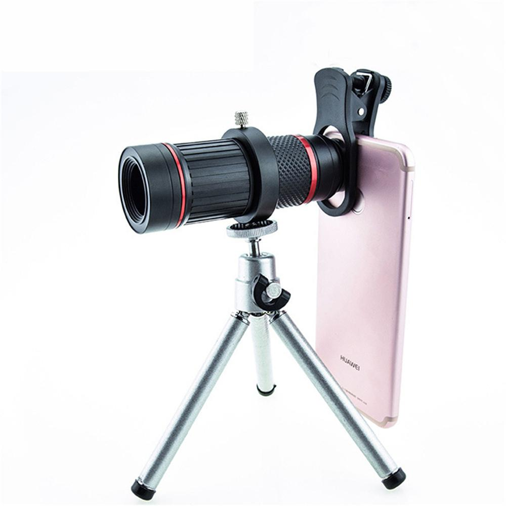Optical Glass Phone zoom Telescope Phone Lens HD Monocular 18X Telephoto Mobile Phone Camera Lenses Metal Tripod ABS Glass Len