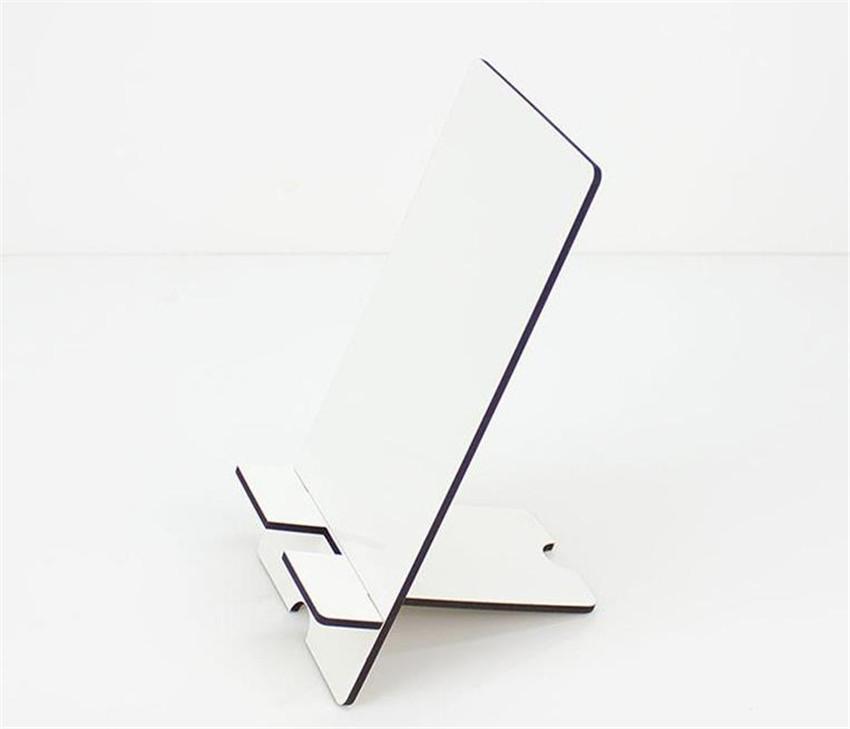 Sublime Telefon Tutucu Ahşap Blank MDF Cep telefonu Dikdörtgen DIY Özelleştirilmiş Beyaz Çıkarılabilir Cep Telefonu Tutucu FEDEX A03 standlar