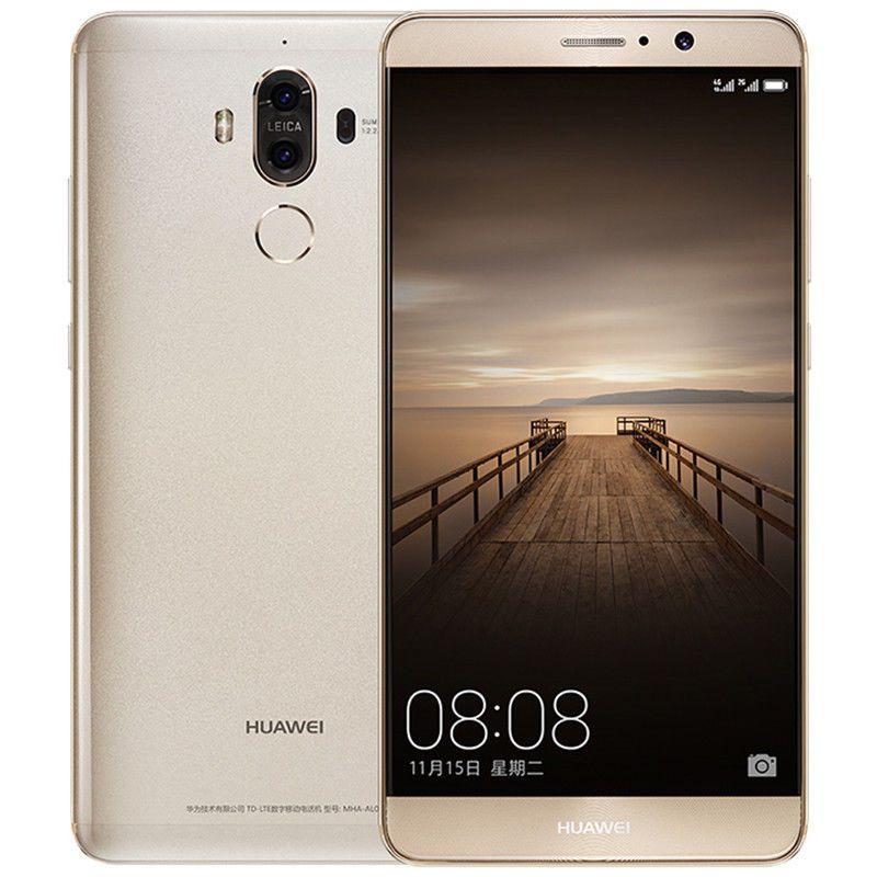 Original Huawei Mate 9 4G LTE Cell Phone 6GB RAM 128GB ROM Kirin 960 Octa Core Android 5.9 inches 20MP Fingerprint ID NFC Smart Mobile Phone