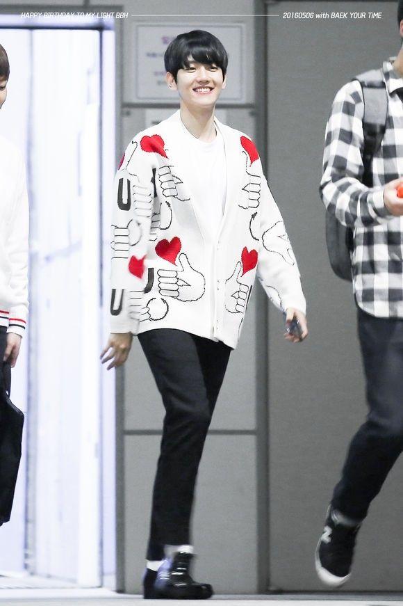 Acheter Nouveau Paragraphe Kpop EXO BaekHyun Même Paragraphe Thumb Jacquard Manches Longues En Tricot Vêtements Cardigan Manteaux Pour Hommes Et