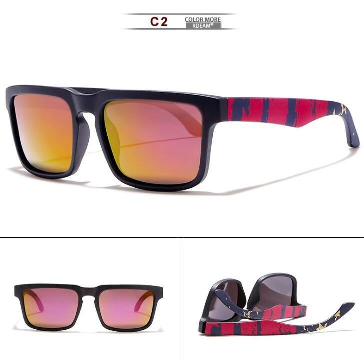 Wholesale- Sonnenbrille Marke Brillen Platz polarisierte Sonnenbrille Europa und Amerika Eyewears Bunte Arme der Männer Sport-Sonnenbrille
