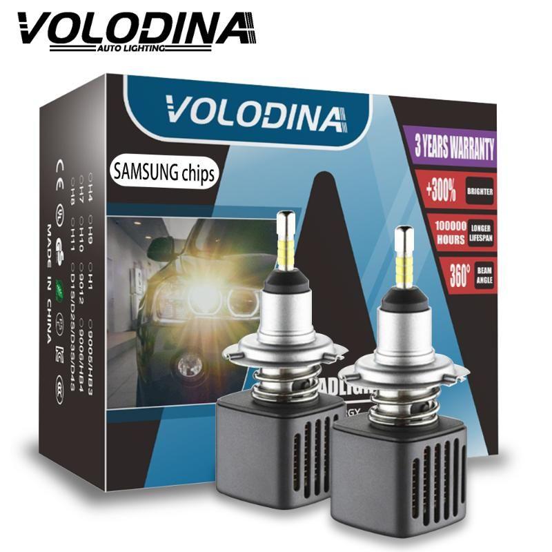 4 Seiten mit Samsung Chips Mini H4 LED H7 D2S Led-Lampen H1 H9 H11 9005 D3S 9006 HB4 D1S Auto-Scheinwerfer-Birnen-6500K-Nebel-Licht 12V