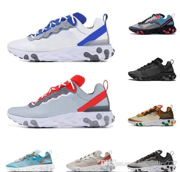 2020 sıcak ücretsiz çalıştırma elemanı 87s ayakkabı erkekler kadınlar Turuncu siyah beyaz Sızdırmaz dikiş eğitmenler spor spor ayakkabıları Koşu 55 mens tepki