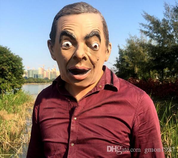 2019 новый реалистичный мистер бин маску, потому что знаменитости британская смешная звезда живое выступление реквизит хэллоуин гарнитура