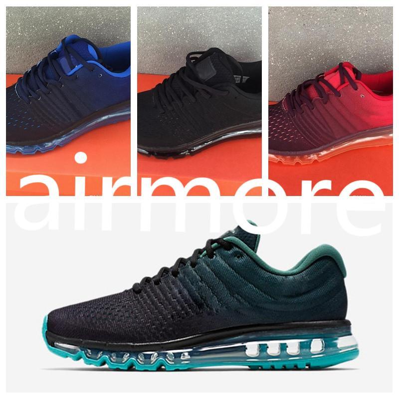Compre Nike Air Max 2017 Envío De La Gota 2017 Hombres Mujeres Zapatos BENGAL Naranja Gris Negro Oro 2017 KPU Cojín Zapatos Para Caminar Al Aire Libre