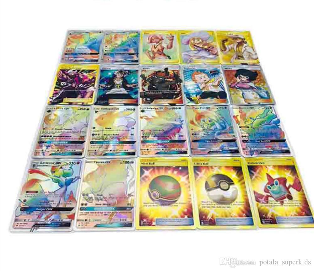 120 قطعة / صندوق تجارة لعب الورق ألعاب مضحكة منتديات ألعاب الورق Evolutions SunMoon اشراق التسلق الأولاد الأطفال لصالح ألعاب الورق