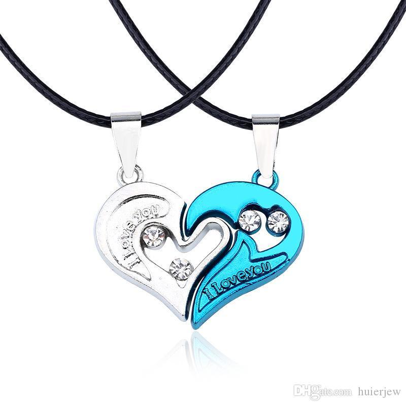Collares pendientes Yin Yang Parejas Collares emparejados Regalo de San Valentín para amantes Parejas Joyas Mujeres Hombres Collar