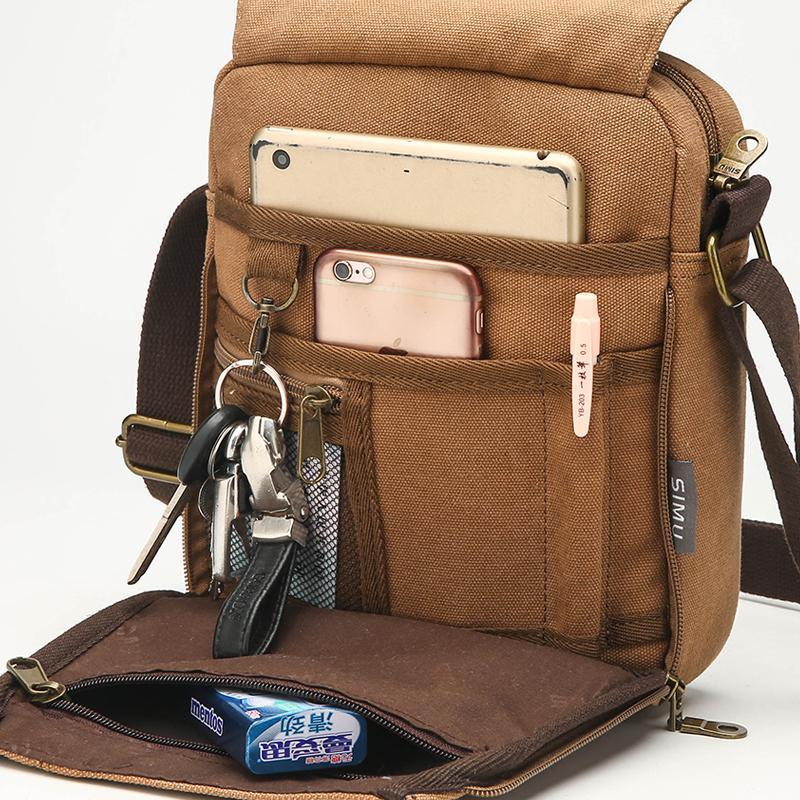 Carry Urban Every Day Men CrossbodyBag 2018 Novo Design Masculino Shoulder Bag Casual pequeno Sling Messenger Bag para celular mochila CJ191130