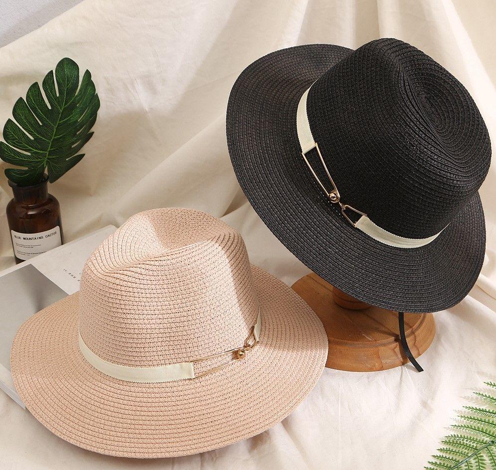 Kore Versiyonu Dışarıda Hasır Şapka Yaz Casual Joker Güneş Şapka İngiliz Caz Plaj Balıkçı Şapka Şık Kadın Seyahat