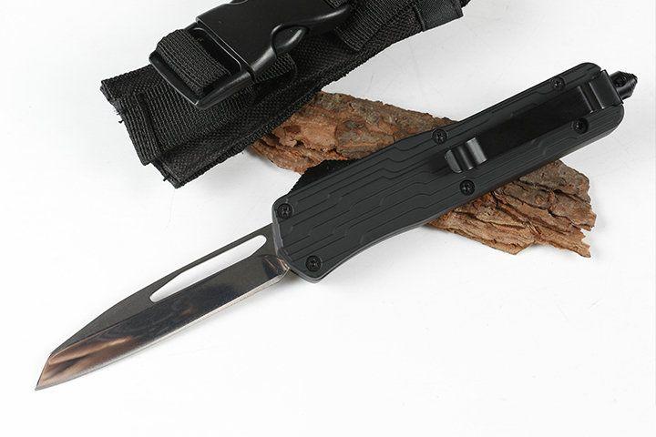 Haute Qualité MT E07 Couteau Automatique 440C Lame De Miroir En Plein Air Survival Tactics Chasse Couteau EDC Camping Survie Équipement Couteau De Poche