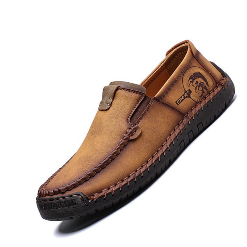 Moda Erkekler Ayakkabı Lüks Erkekler İnek Deri Casual Erkek Deri Ayakkabı On Erkekler aylaklarının Kayma