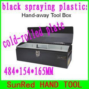 BESTIR Taiwan negro mano de distancia herramienta de tamaño de la caja: 48,4 * 15,4 * 16,5 cm de alta calidad caja de herramientas laminadas en frío placa, NO.05101, fabricante