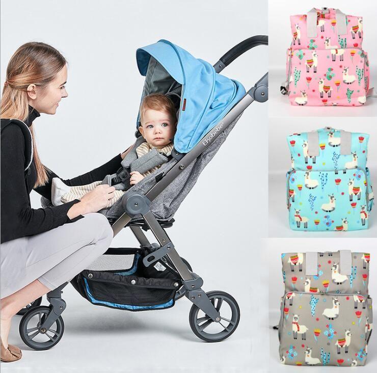 Sacchetti per pannolini per bambini alpaca Zaino Mommy Zaino Stampato Fashion Nappy Grande Capacità Maternità Nursing Daursing Backpack da viaggio Tote Borsa da viaggio
