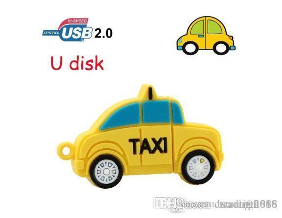 새로운 USB 플래시 드라이브 64기가바이트 택시 차량 펜 드라이브 4기가바이트 8기가바이트 16기가바이트 32 기가 바이트 USB 메모리 스틱 엄지 Pendrive 최고의 창조적 인 선물