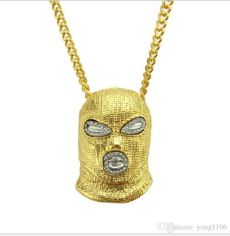 Новый европейский и американские моды алмазов инкрустированных хип-хоп антитеррористический гарнитур ожерелье бар ночного клуба ювелирные модных мужчин