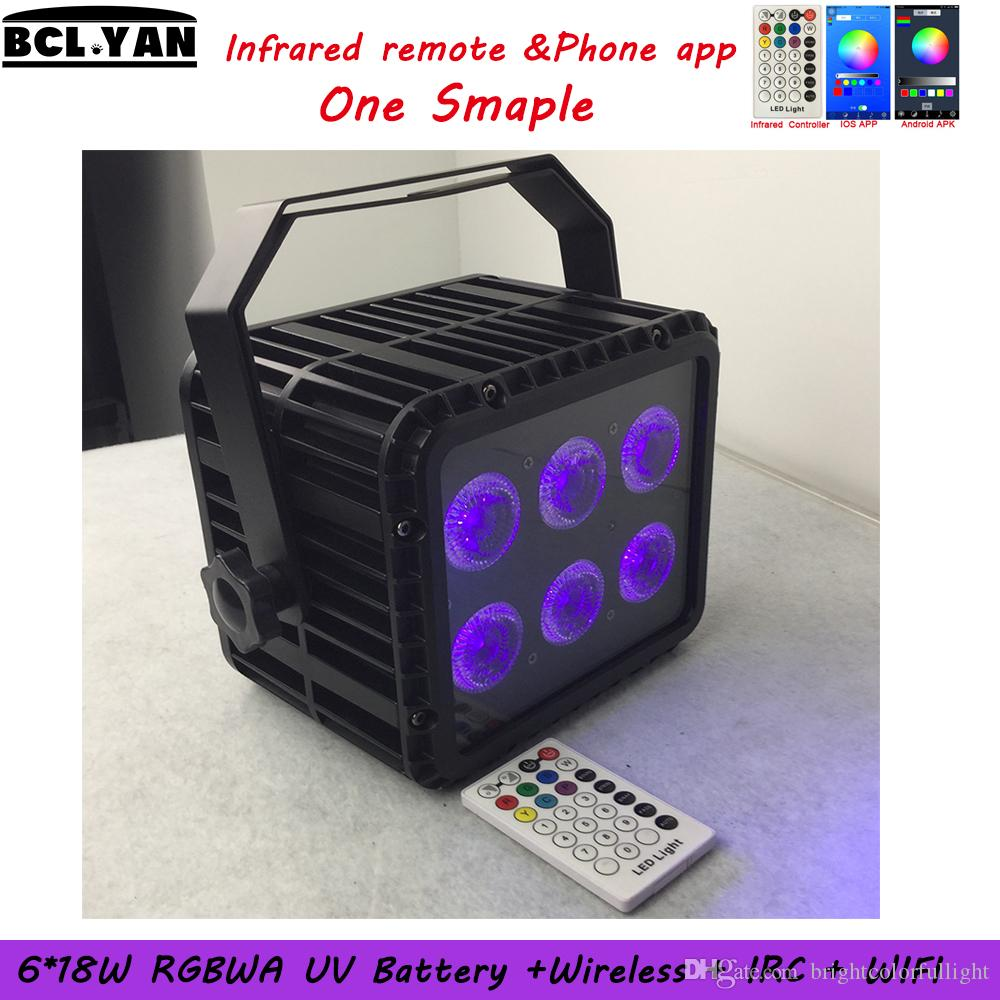 Guangzhou 6x18W RGBWAUV 6in1 IP65 waterproof battery powered wireless dmx led par stage light Sample Order