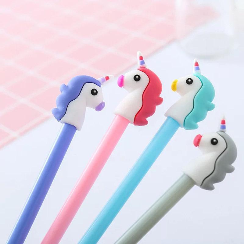 Bring Lucky Unicorn Mini Sucker Cap Funny Creative Animal Toy Kids Pencil Topper Decor Model Gifts