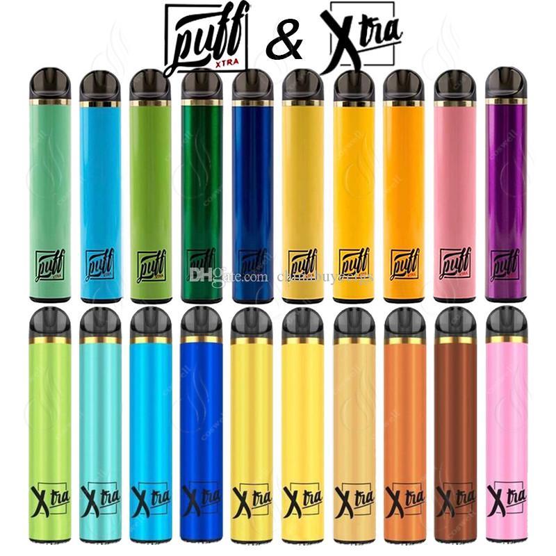 Plus récent SOUFFLE XTRA XTRA à usage unique Vape Pen 1500Puffs 5,0 ml prérempli des cartouches de démarrage Dispositif Kit système e cigarette Vaporizer pods vapeur