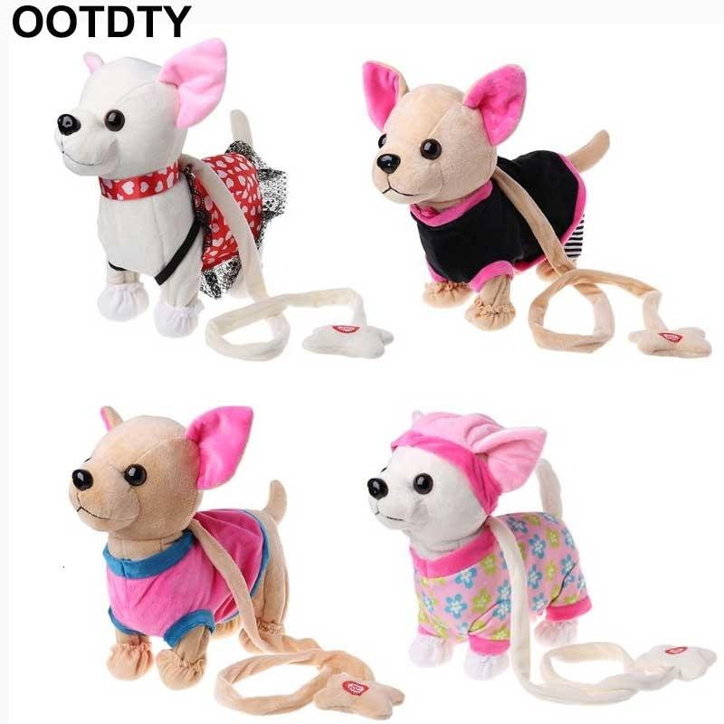 Electronic Pet Robot Dog Zipper Walking Singing Interactive Toy With Bag For Children Kids Birthday Gifts T191111