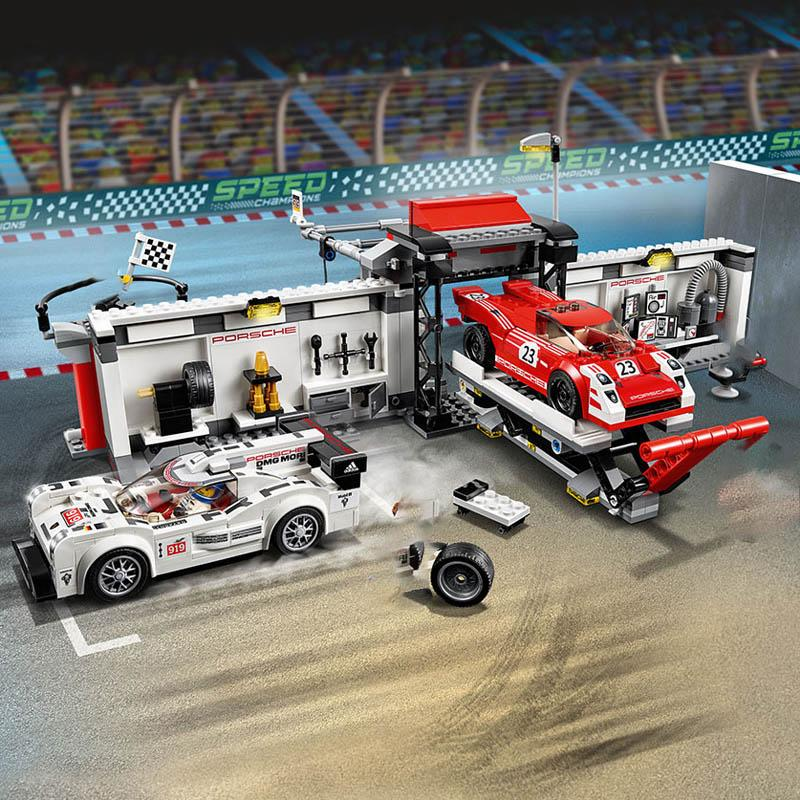 Decool City series racer speed champion car sets building blocks children brick toys compatible legoed repair station Pickup F1