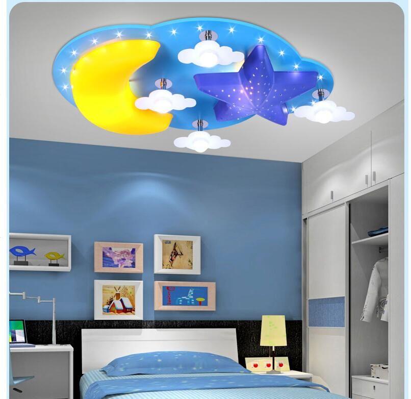 2019 Modern Kids Bedroom Ceiling Lamp Moon Star Design E27 LED Creative  Cartoon Decoration Children Ceiling Lighting 100% Guaranteed From  Tinger3280, ...