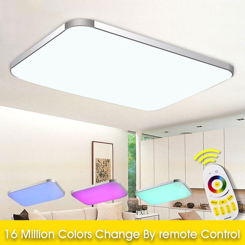 Spektrum Plaka Tavan Of 2020 En Moda Abajur Yedi Renk Işık RGB + Beyaz soğutmak + Salon İçin Akıllı Led Lamba / ısınmak