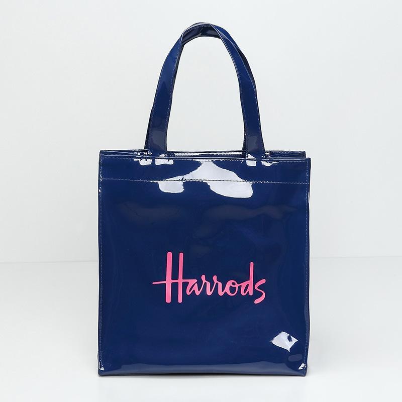 صديقة للبيئة قدرة PVC كبيرة للماء حقيبة تسوق إلكتروني الكتف حقيبة الغداء السيدات